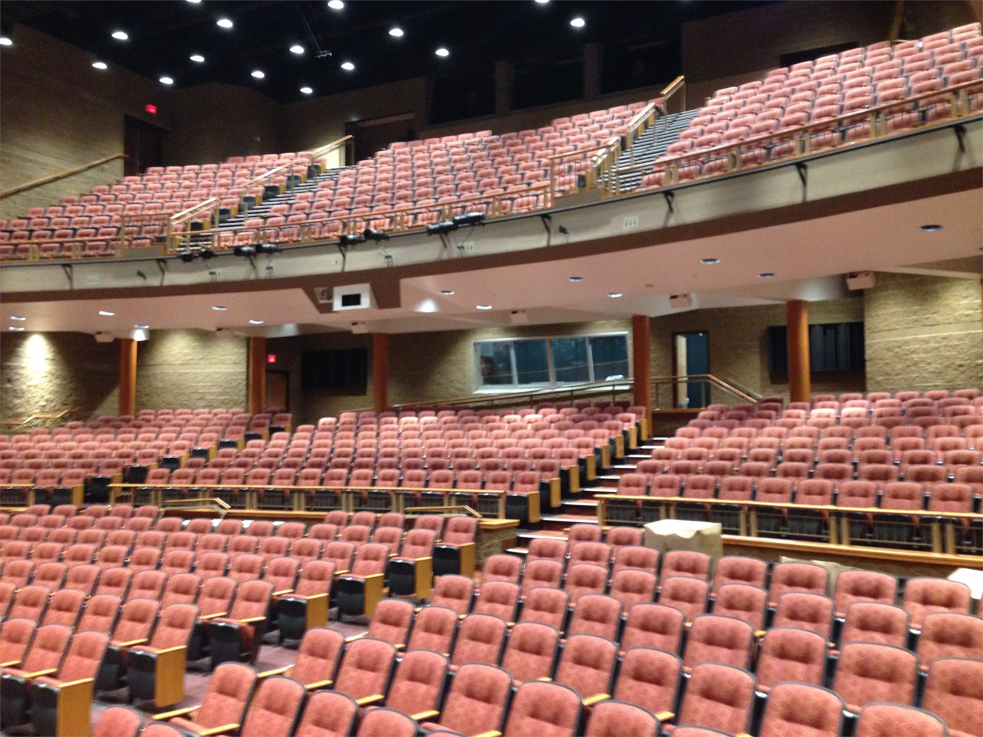 Picture of seating from stage left