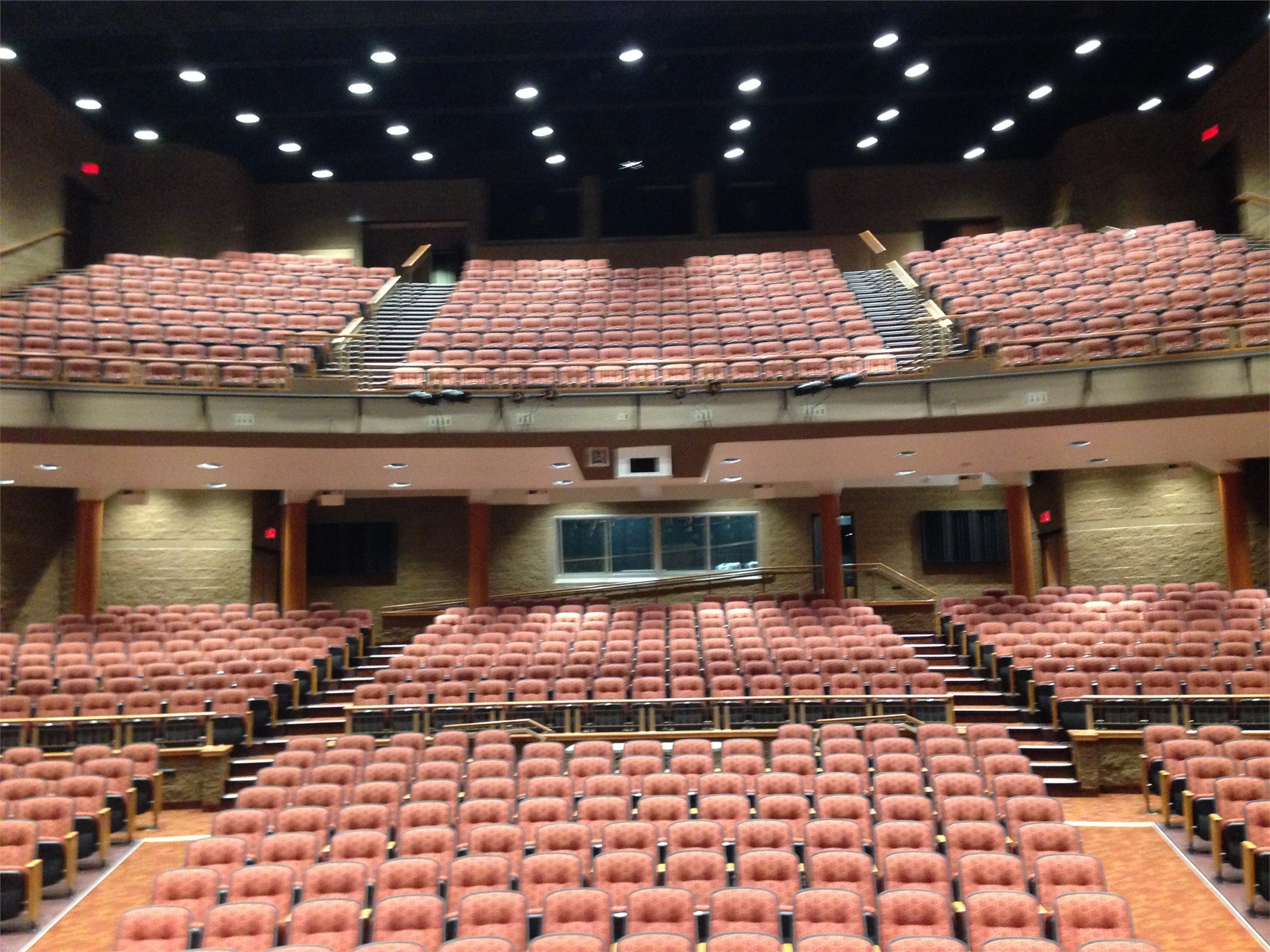 Picture of seating from center stage