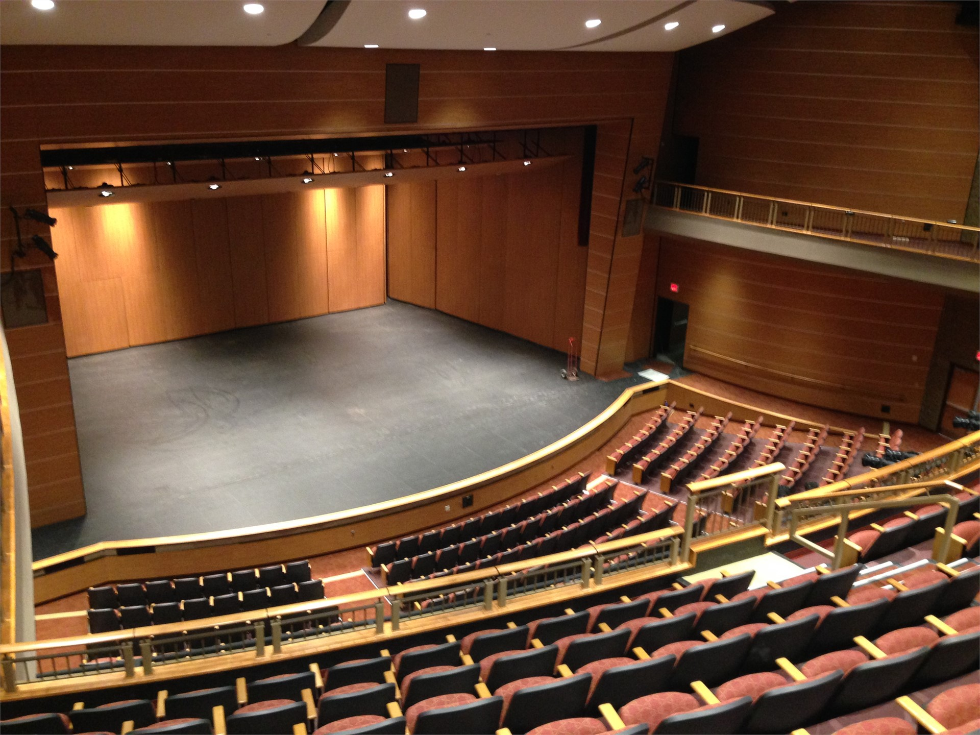 Picture of new auditorium stage from balcony