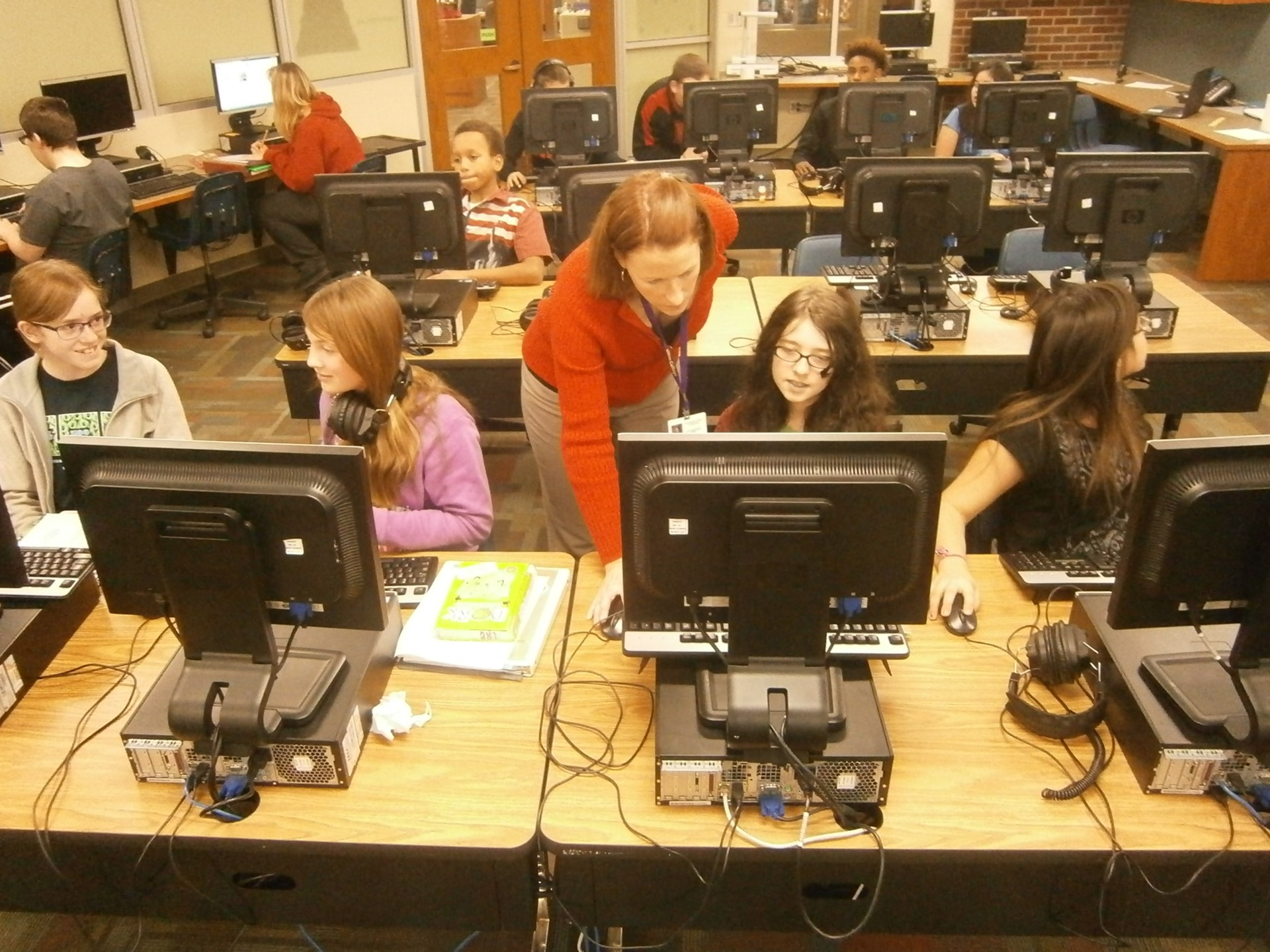 MS Students Working In Computer Lab