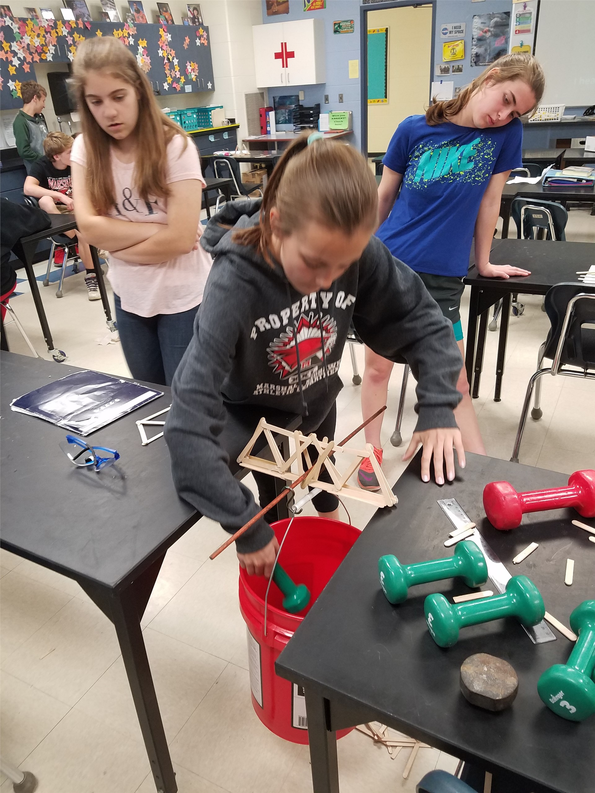 MS Students working on Science Project